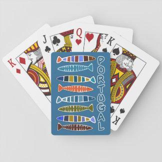 Spielkarten des PORTUGAL-Fisch-Musters