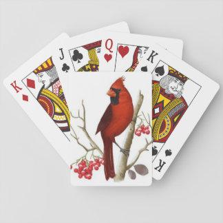 Spielkarten des roten Kardinals