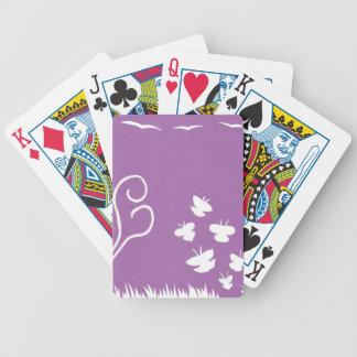 Spielkarten des Schmetterlings-, Vogel- und