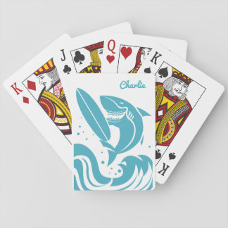Spielkarten des Surfer-Haifisch-individuellen