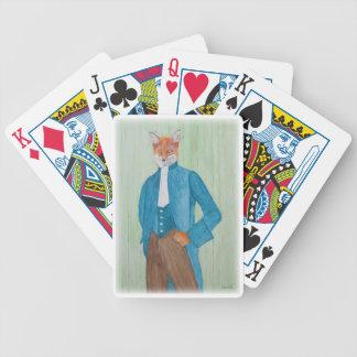 Spielkarten mit adretter Fox-Illustration