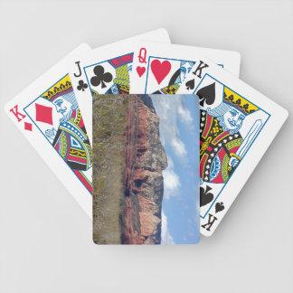 Spielkarten mit Foto von Arizona-Rot schaukelt