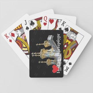 Spielkarten St. Petersburg Russland Russia
