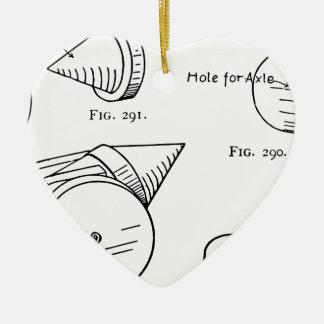 Spielzeug-Feuerwerks-Diagramm Keramik Herz-Ornament