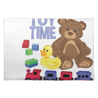 Spielzeug-Zeit Stofftischset