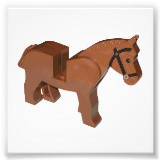 Spielzeug-Ziegelstein-Pferd Fotografischer Druck