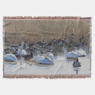 Spießenten-Enten-Vogel-Tier-Schwan-Wurfs-Decke Decke