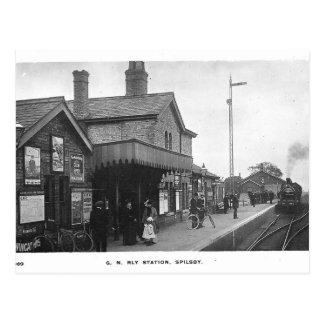 Spilsby Bahnhofs-Vintage Postkarte