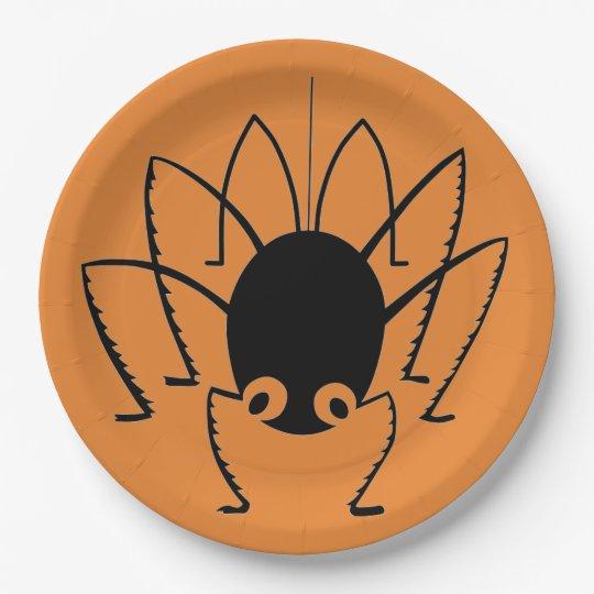 Spinne Pappteller 22,9 Cm
