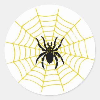 Spinne runder Aufkleber