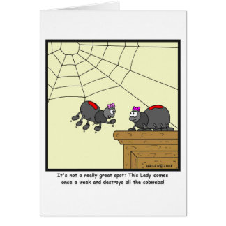 Spinnennetze: Spinnen-Cartoon Karte