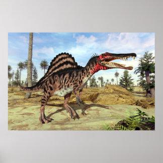 Spinosaurus kreidiger Dinosaurier Poster