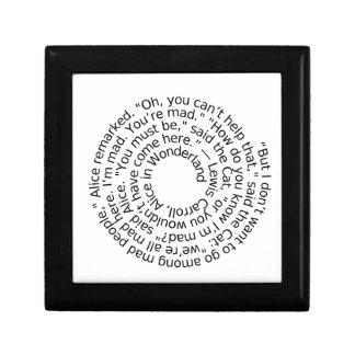 Spiral-alicewonderland2 Kleine Quadratische Schatulle