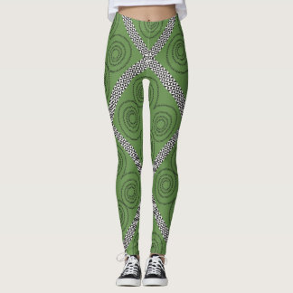 Spiralen und Diamanten Leggings