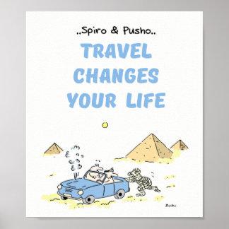 Spiro u. Pusho Reise-Zitat-Plakat 8x10 Poster