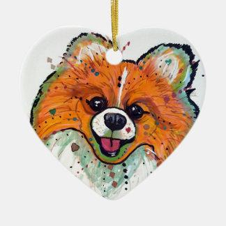 Spitz-Pop-Kunstverzierung Keramik Herz-Ornament