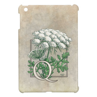 Spitze-Blumen-Monogramm der Königin-Anne iPad Mini Hülle
