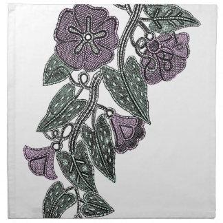 Spitze-Blumen Stoffserviette
