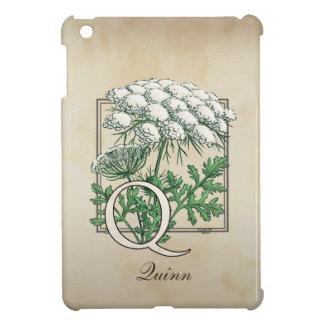 Spitze-Blumenmonogramm der Königin-Anne iPad Mini Hülle