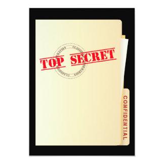 Spitze - geheime Überraschungs-Party-Gewohnheit 12,7 X 17,8 Cm Einladungskarte