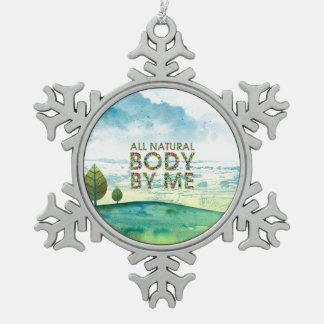 SPITZEN aller natürliche Körper Schneeflocken Zinn-Ornament