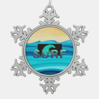 SPITZENbrandung Schneeflocken Zinn-Ornament
