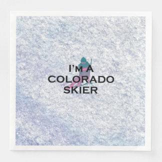 SPITZENcolorado-Skifahrer Papierserviette