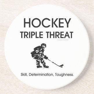 SPITZENHockey-Dreiergruppen-Drohung Untersatz
