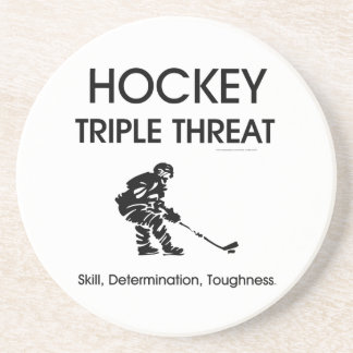 SPITZENHockey-Dreiergruppen-Drohung Untersetzer