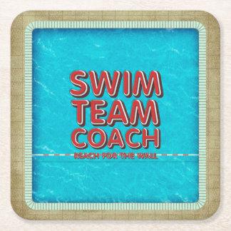SPITZENSchwimmen-Trainer Rechteckiger Pappuntersetzer