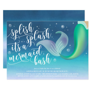 Splish 12,7 X 17,8 Cm Einladungskarte