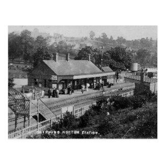 Splitterung Norton der Bahnhofs-Vintagen Postkarte