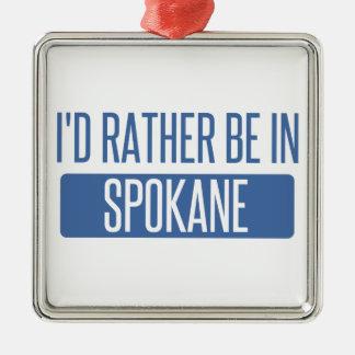 Spokane Silbernes Ornament