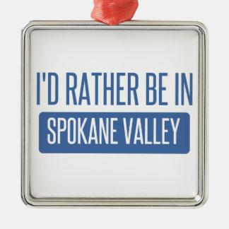 Spokane-Tal Silbernes Ornament