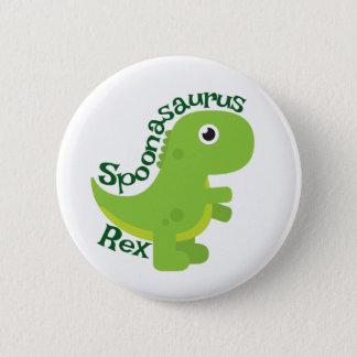 Spoonasaurus Rex Knopf Runder Button 5,1 Cm