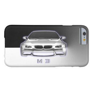 Sport-Auto auf Edelstahl-Metallhintergrund Barely There iPhone 6 Hülle