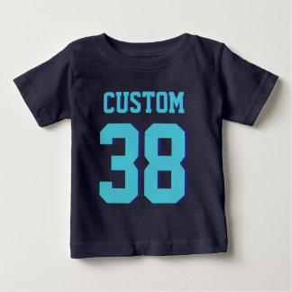 Sport-Jersey-Entwurf des Marine-Blau-u. Baby T-shirt