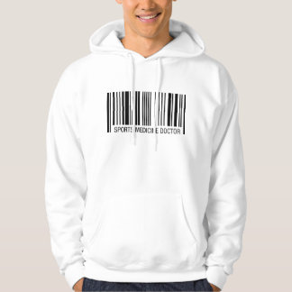 Sport-Medizin-Doktor Barcode Hoodie