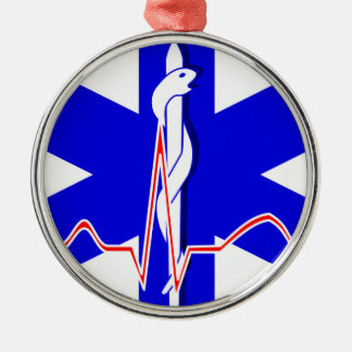 Sport-Medizin-FriedensLiebe-Schicksal Doktor-Nurse Silbernes Ornament