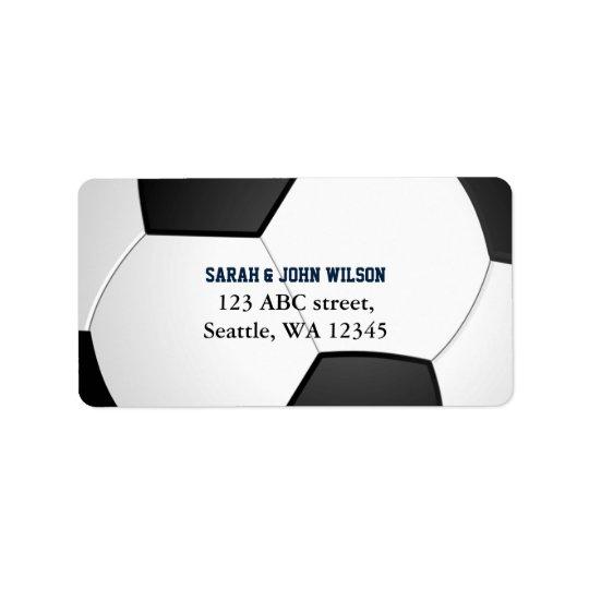Sport-Party-Fußballthema-Adressen-Etikett Adressaufkleber