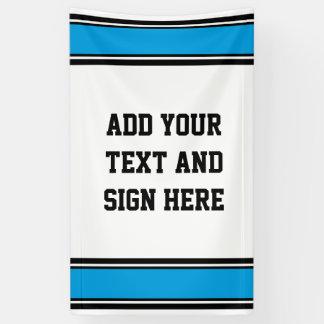 SPORT-STREIFEN - cyan-blaues Schwarz-weißes + Ihre Banner