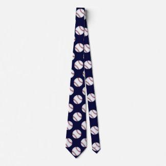 Sportliche dunkelblaue Baseball-Krawatte Bedruckte Krawatten