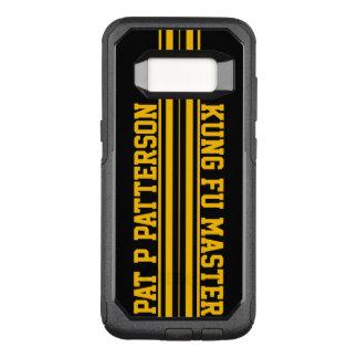Sportliche gelbe Streifen-Namen-Schablone OtterBox Commuter Samsung Galaxy S8 Hülle