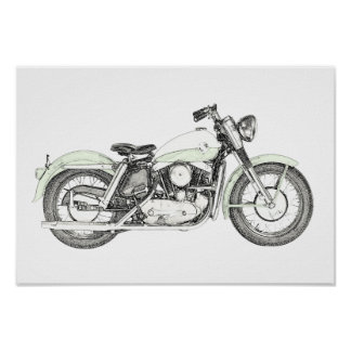 Sportster Motorrad 1957 Poster
