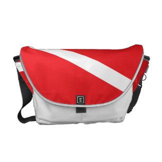 Sporttaucher-Tauchen-Flaggen-Bote-Tasche Kuriertaschen