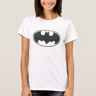 Spray-Schwarz-weißes Logo des Batman-Symbol-| T-Shirt