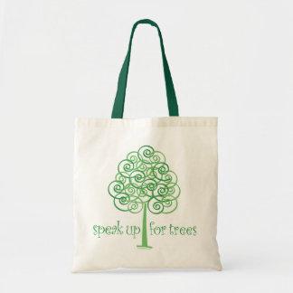 Sprechen Sie oben für Bäume - Baum Hugger Tragetasche