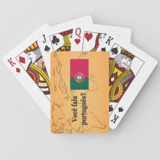 Sprechen Sie Portugiesen? auf portugiesisch. Spielkarten