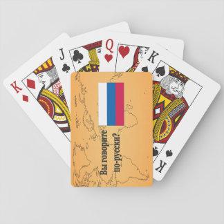 Sprechen Sie Russen? auf russisch. Flaggen-BF Pokerdeck