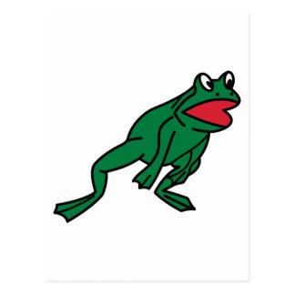 Springen des Frosches Postkarte